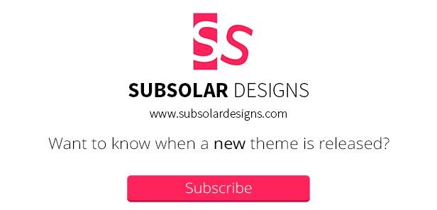 subscribe list - Flavio - A Personal & Responsive WordPress Theme