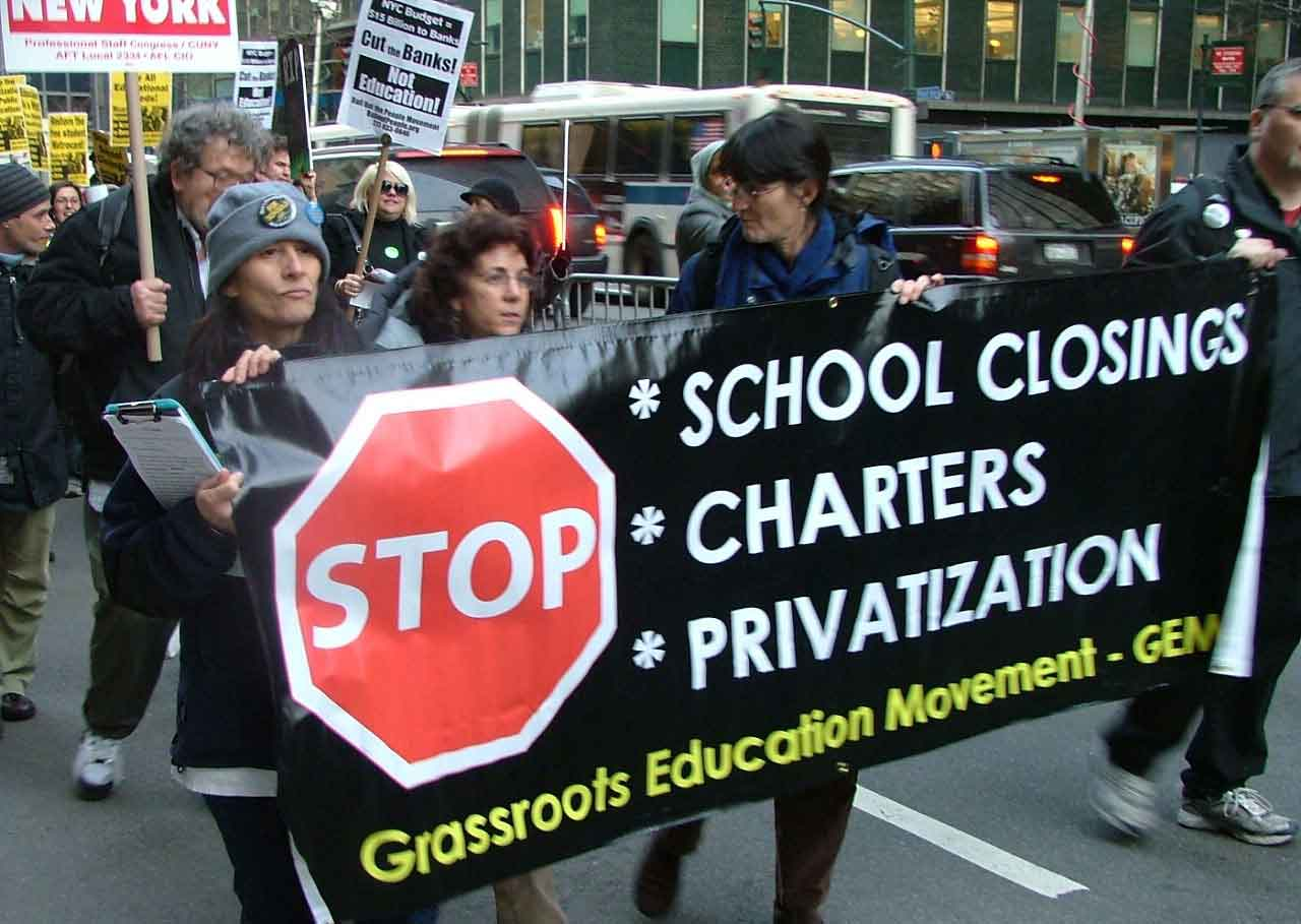 Image result for School privatization protest