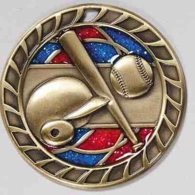 """2 1/4"""" Glitter Baseball Medal"""