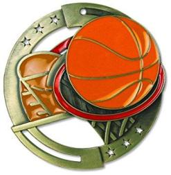 "2-3/4"" M3XL Basketball Medal"