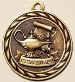 "2"" Academic Excellence Medal"