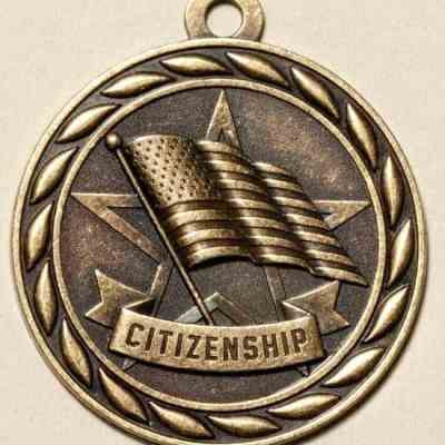 "2"" Citizenship Medal"