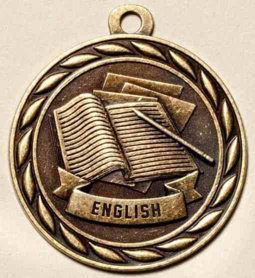 """2"""" English Academic Medal"""