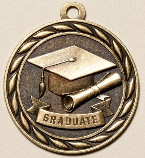 "2"" Graduate Scholastic Medal"