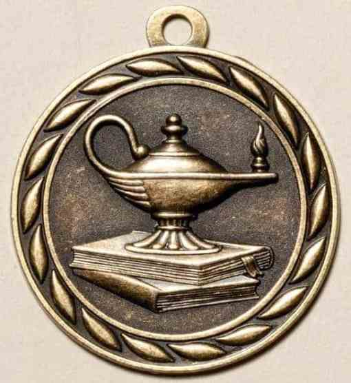 """2"""" Lamp of Knowledge Medal"""
