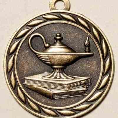 "2"" Lamp of Knowledge Medal"