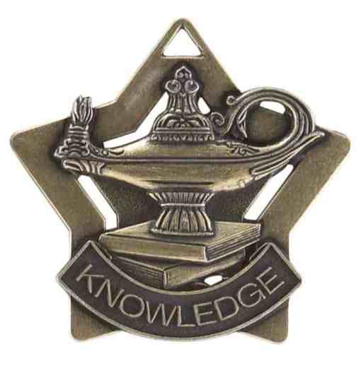 """2"""" Lamp of Learning Star Medal"""