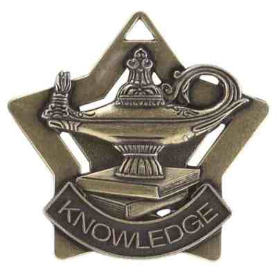"2"" Lamp of Learning Star Medal"