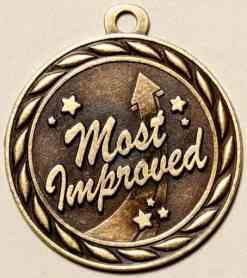 "2"" Most Improved Medal"