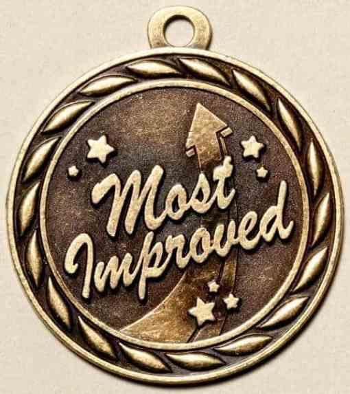 """2"""" Most Improved Medal"""