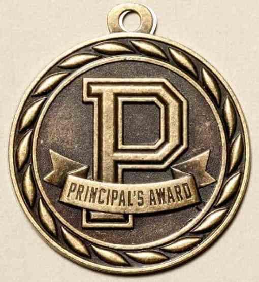 "2"" Principal's Award Scholarship Medal"