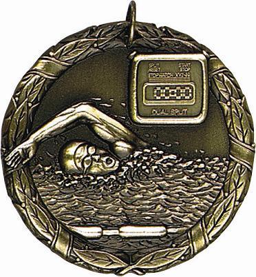 "2"" Swimming Medal"