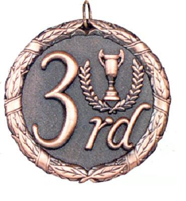 "2"" Third Place Medal"