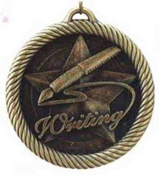 "2"" Writing Medal"