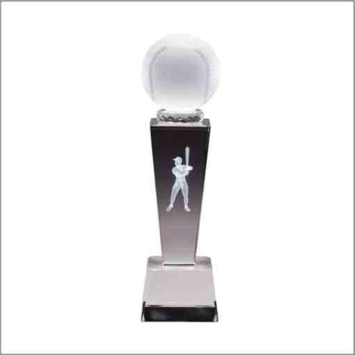 3-D Baseball Sport Crystal