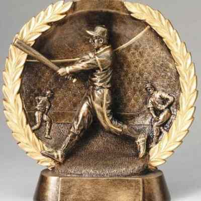 3-D Plate Men's Baseball Trophy