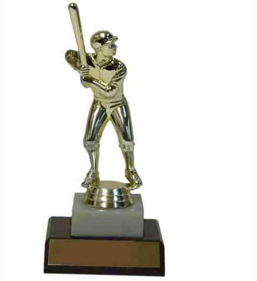 """7"""" Trophy with Figure on Marble and Base"""