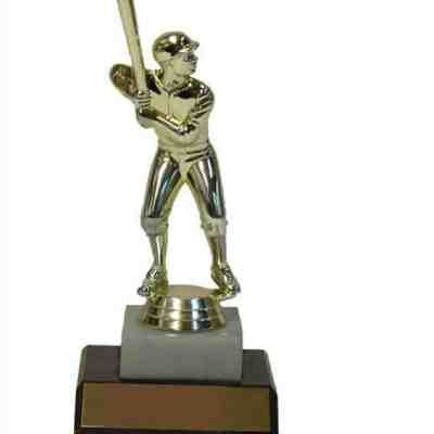 "7"" Trophy with Figure on Marble and Base"