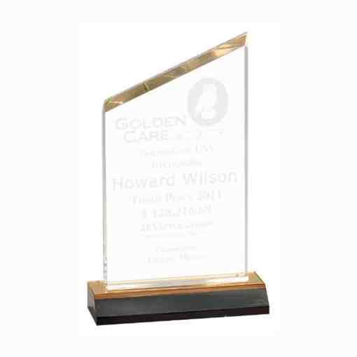 beveled peak acrylic award