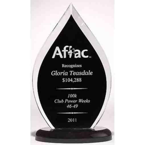 Black Flame Acrylic Award