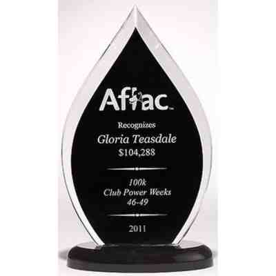 Black Flame Acrylic Award