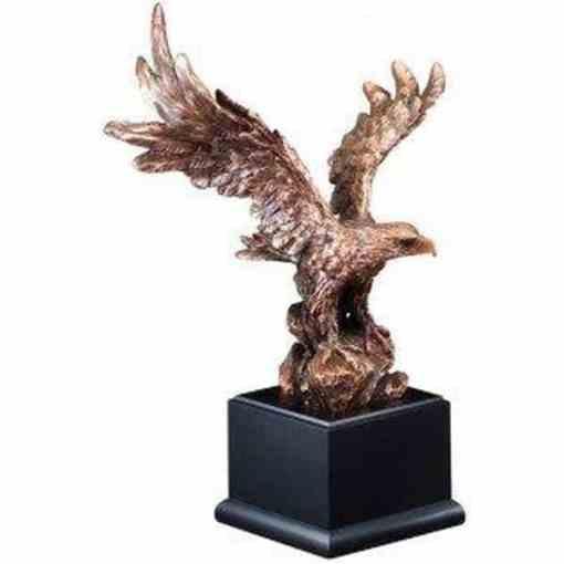 Bronze Resin American Eagle on Black Base