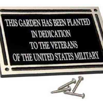 Cast Aluminum Memorial Wall Plaque