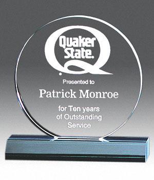 Circle Acrylic Award
