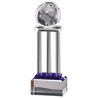 Crystal Globe on Pillars Award