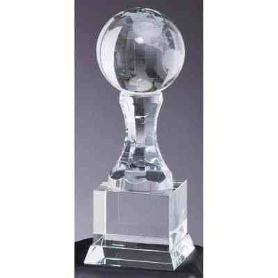 Crystal Globe on Upright Trophy