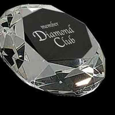 Diamond Crystal Paperweight Award