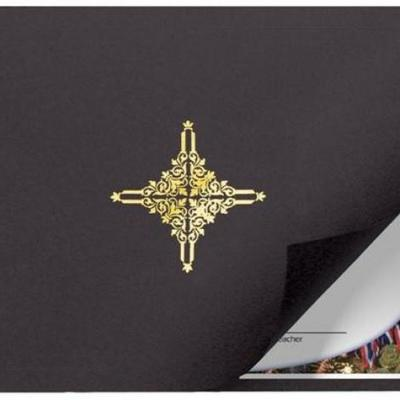 Black with Gold Star Diploma Cover