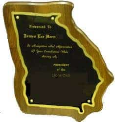 Georgia State Plaque