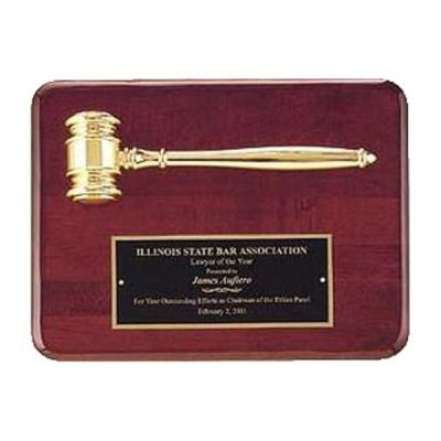 Gold Electroplated Gavel Plaque