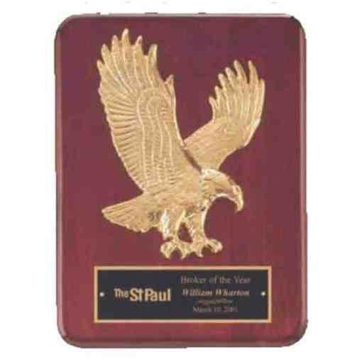 Goldtone Eagle Plaque