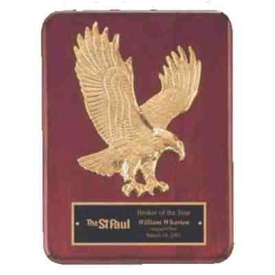 Goldtone Eagle Plaque