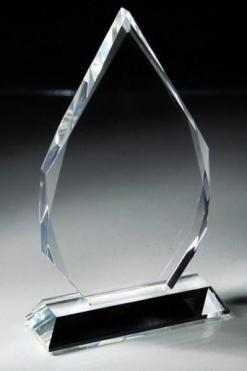 Optic Crystal Teardrop Award
