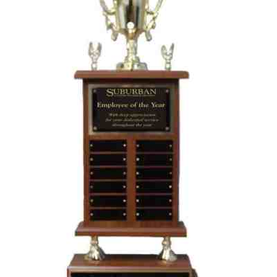 Perpetual Trophy with 12 Plates