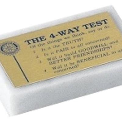 Rectangle White Marble Paperweight Award
