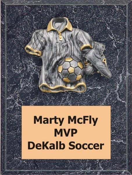 Silver and Gold Soccer Plaque