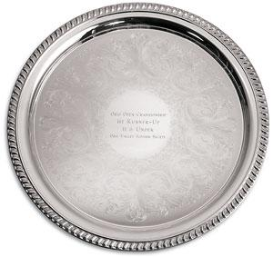 Silver Tray Embossed
