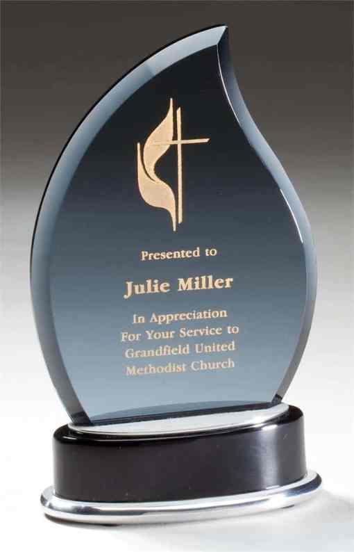 Smoked Glass Flame Award