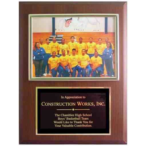 picture plaque for sponsors