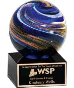 Swirling Globe Art Glass Award