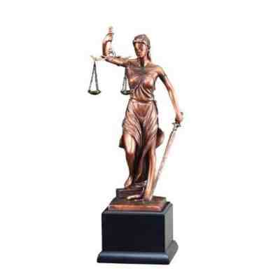 Lady Justice Resin Award Trophy