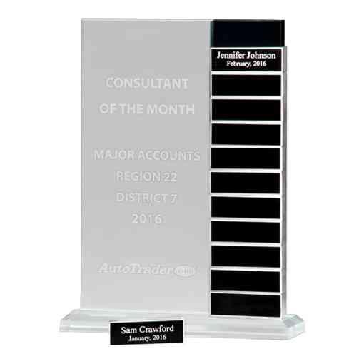 milestones award plaque