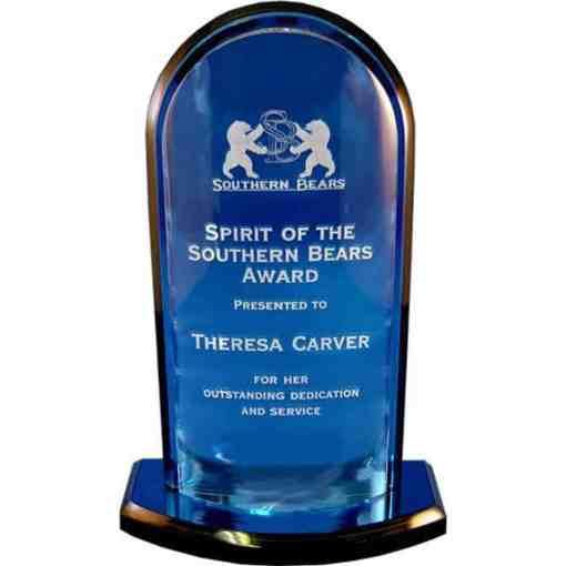 Convex Blue Acrylic Award
