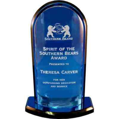 Convex Blue Acrylic Award
