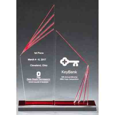 Double Zenith Red Acrylic Plaque