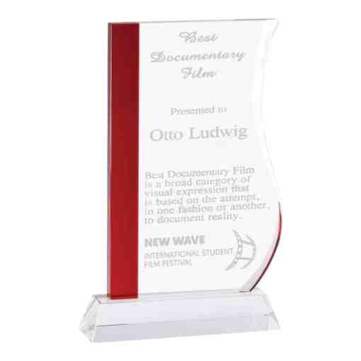 Red Wave Crystal Award